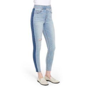 SPANX Side Stripe Distresses Skinny Jeans SZ XL